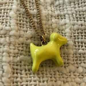 JCrew Dog necklace